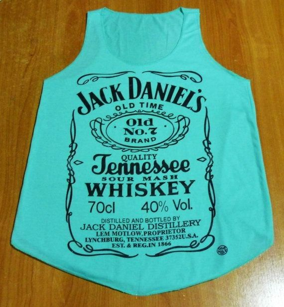 Tank top BlueGreen Jack Daniels by Country789 on Etsy, $10.00