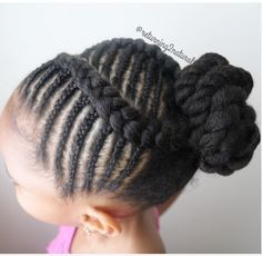 Cute protective style for little girls!