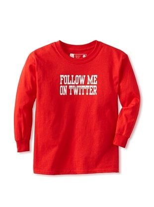 67% OFF Little Dilascia Kid's Follow Me Long Sleeve Tee (Red)