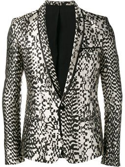 animal pattern blazer