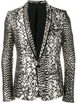 animal pattern blazer