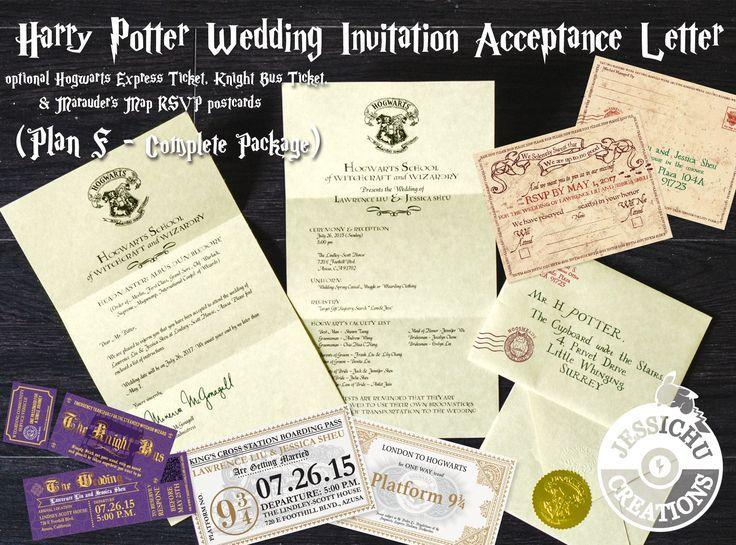 Harry Potter Inspired Hogwarts Acceptance Letter Wedding