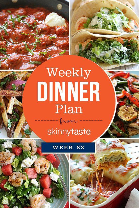 Skinnytaste Dinner Plan (Week 83)