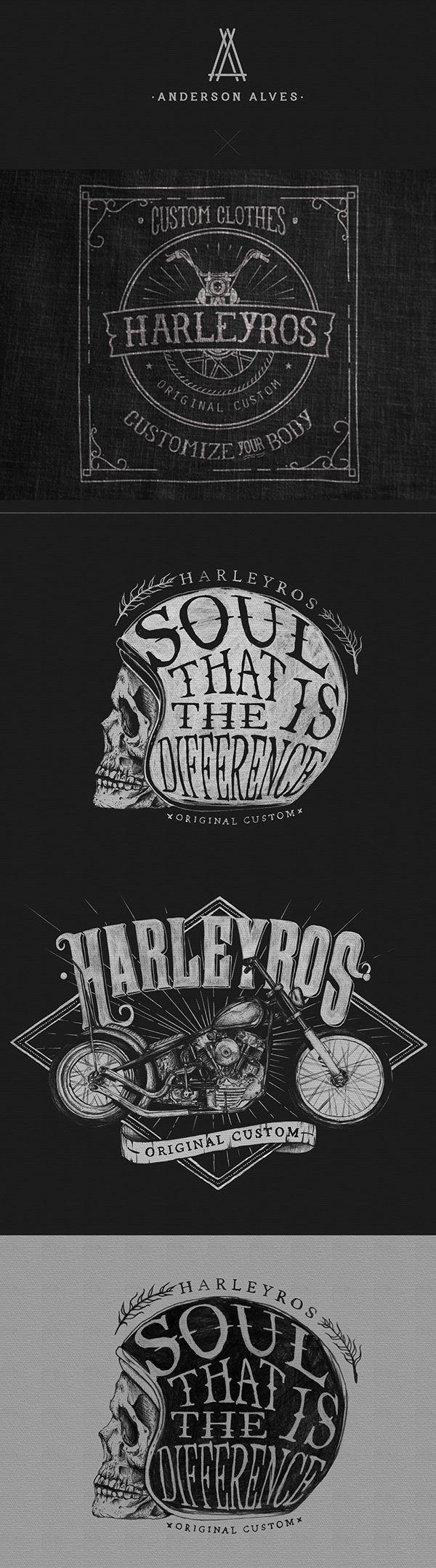 Harleyros Original Custom by Anderson Alves, via Behance