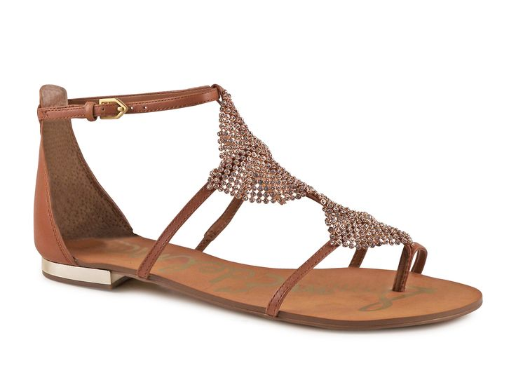 Sam Edelman women's flat sandals in tan leather - Italian Boutique €108