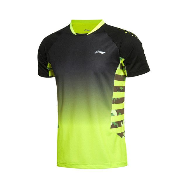 Men's Badminton Series Quick Dry Breathable Flexible T-Shirts Lining Sports Training T-Shirts