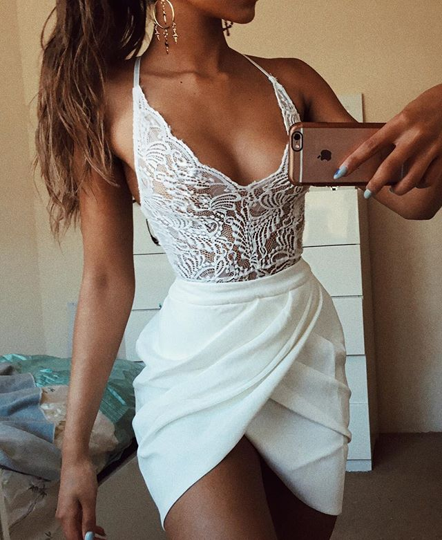 Eve Drape Skirt | #saboskirt  White outfit game strong  @megkylie