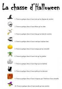 la chasse d'Halloween