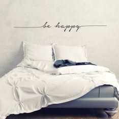 Adesivo de Parede Be Happy
