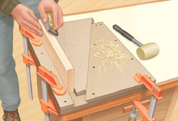 How to Build a Plywood Shop-made Wedge-style Trapezoidal Bench Vise