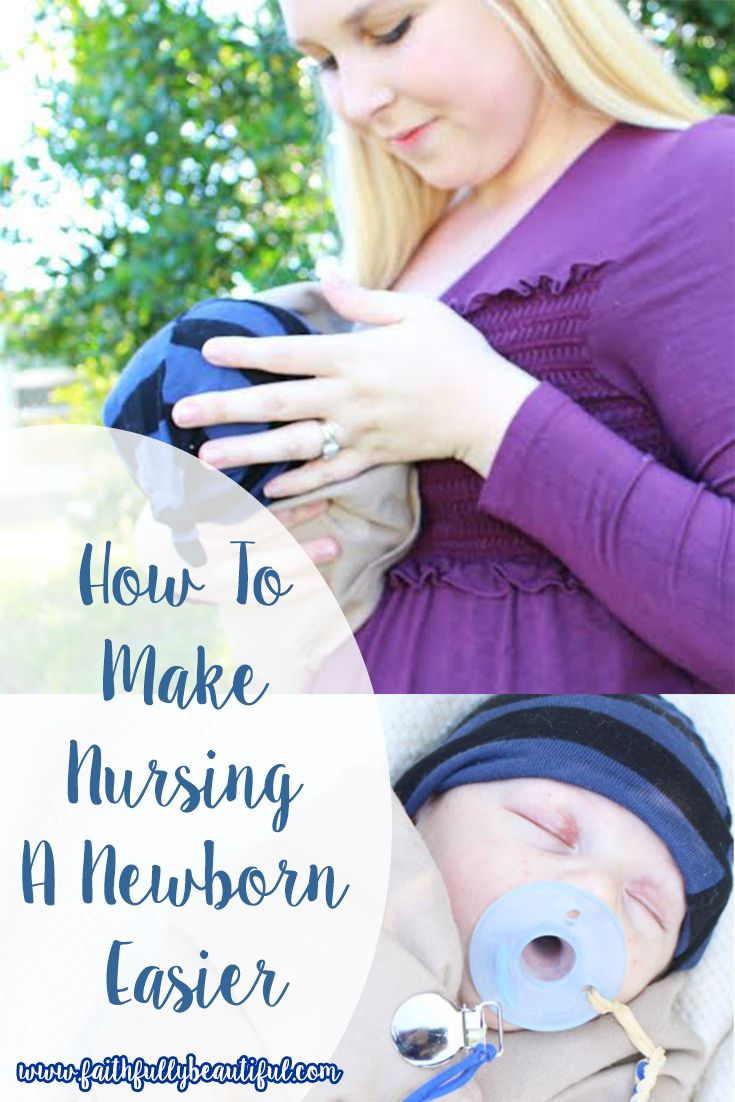 Tips for making those days of breastfeeding a newborn a little easier! #nursing #breastfeeding