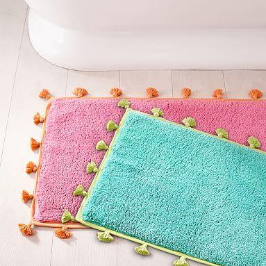 tassel bath mat pbteen