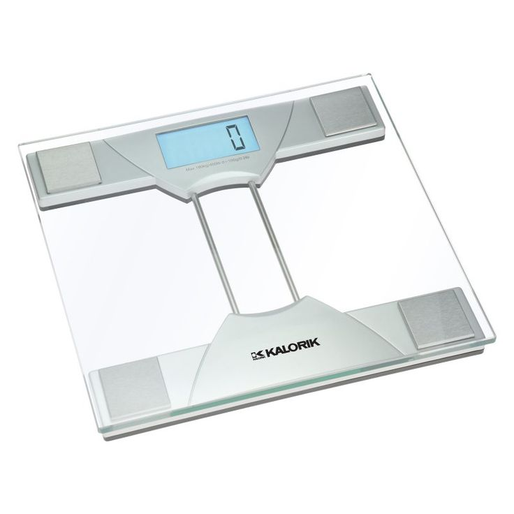 KALORIK   Electronic Bathroom Scale   This easy to read digital scale has a slim glass design and holds up to 350 lbs  It will display the difference. 1000  ideas about Glass Bathroom Scales on Pinterest   British