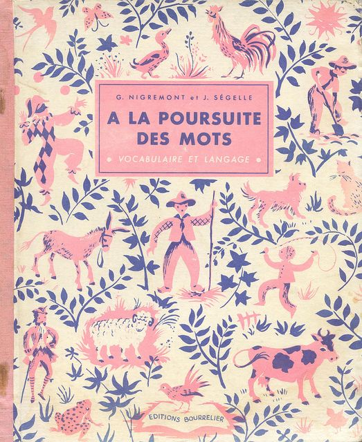 Vintage French educational book cover,