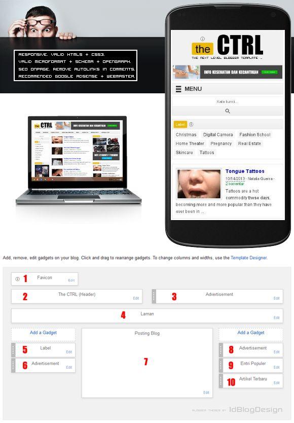 The CTRL merupakan salah satu template blogger premium andalan karya IdBlogDesign untuk bulan ini. S...