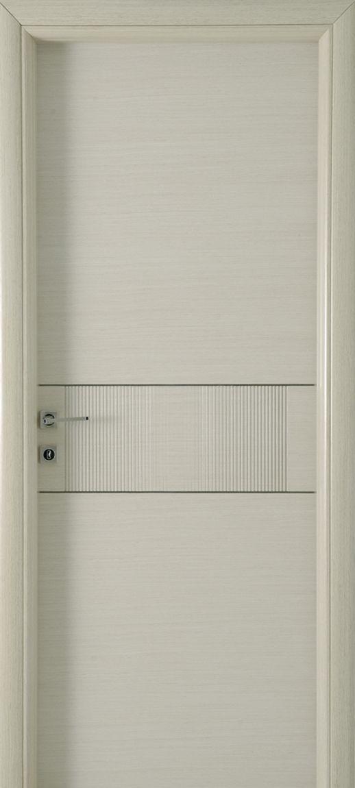 Nordico doors, veneer door w/ nikel details