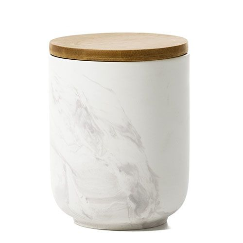 Marle Marble Canister White