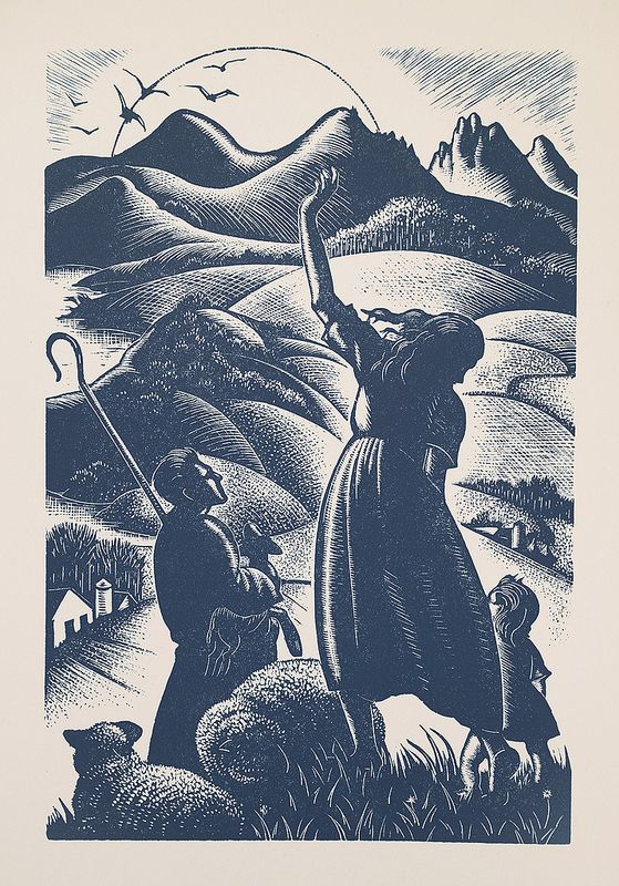 Clare Leighton - Wood Engraving for The Book of Psalms
