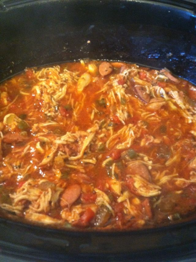 Jambalaya - One of my favorite recipes! Soooooo good!! Even better if you add shrimp 20 mins before finished.