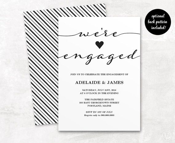 25 best images about Engagement Invitation Template – Engagement Party Templates
