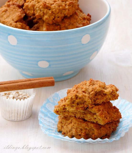 Hozzávalók: egy csipetnyi szeretet: Sütőtökös-zabpelyhes süti