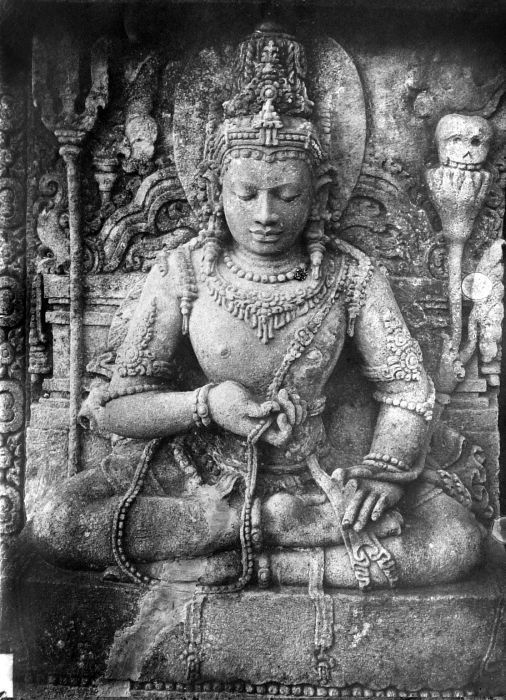 The 9th century Hindu Lokapala devata, the guardians of the directions, on the wall of Shiva temple, Prambanan, Java, Indonesia.