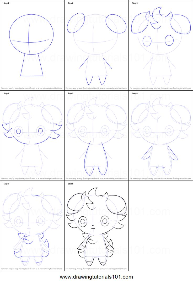 How to Draw Espurr from Pokemon printable step by step drawing sheet : DrawingTutorials101.com