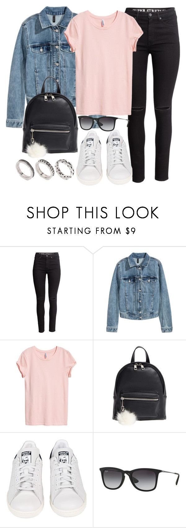 """Sin título #13231"" by vany-alvarado ❤ liked on Polyvore featuring H&M, BP., adidas, Ray-Ban and ASOS"
