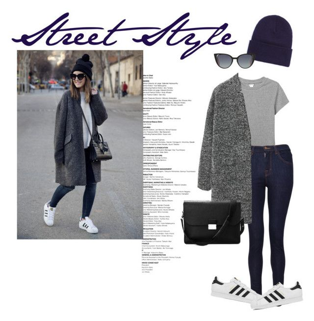 Untitled #27 by lauralionels on Polyvore featuring polyvore fashion style Monki MANGO J Brand adidas Aspinal of London Fendi clothing