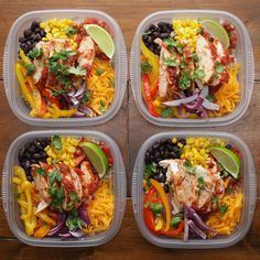 Weekday Meal-Prep Chicken Burrito Bowls by Tasty