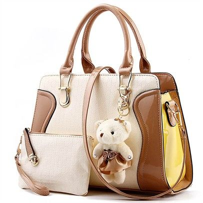 Ozsale - Brown Pu Leather Handbag - Ozsale.com.au