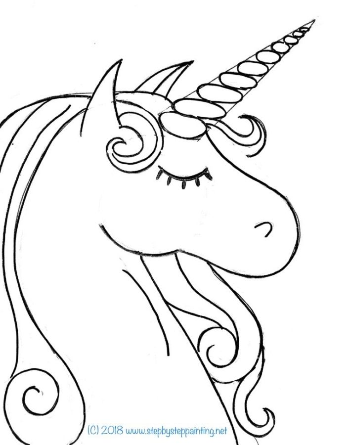 How To Draw A Unicorn Step By Step Drawing Tutorial Unicorn Painting Unicorn Drawing Unicorn Coloring Pages