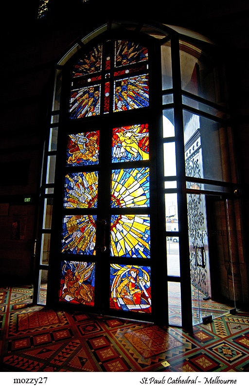 69 best melbourne stained glass images on pinterest stained stained glass doors into st pauls melbourne victoria planetlyrics Image collections