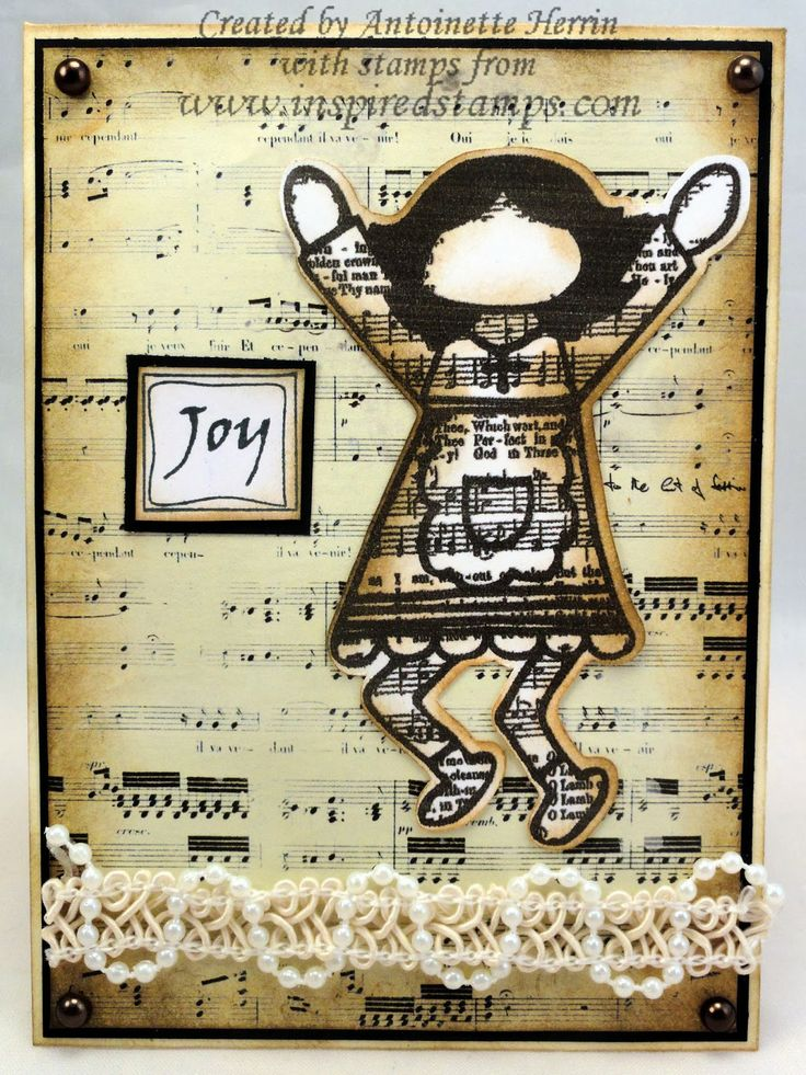 art; journal; cards; character card;JUNE; Inspired Stamps; Bazzill; artwork at www.inspiredstamps.blogspot.com