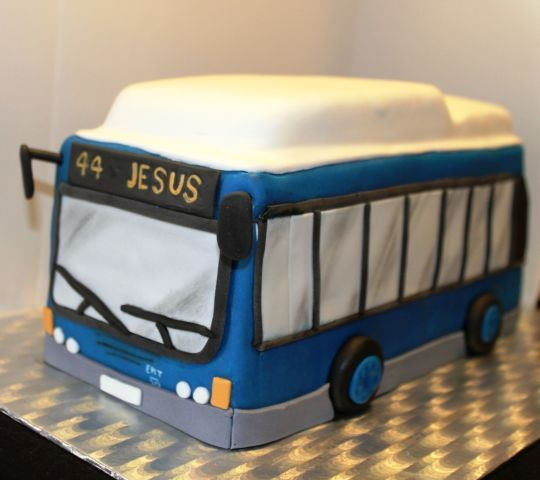 Tarta de Autobus de Madrid - Madrid Bus Cake