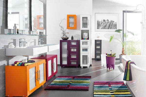 Salle de bain zen-  le printemps est là! - décoration-salle-de bain-colorée