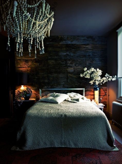 Eclectic Master Bedroom with Organic braided matelasse duvet cover, Wood bead…