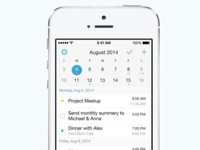 OnTop: Calendar for iPhone.