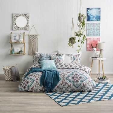 Ombre Home Boho Luna Quilt Cover Set Multicoloured