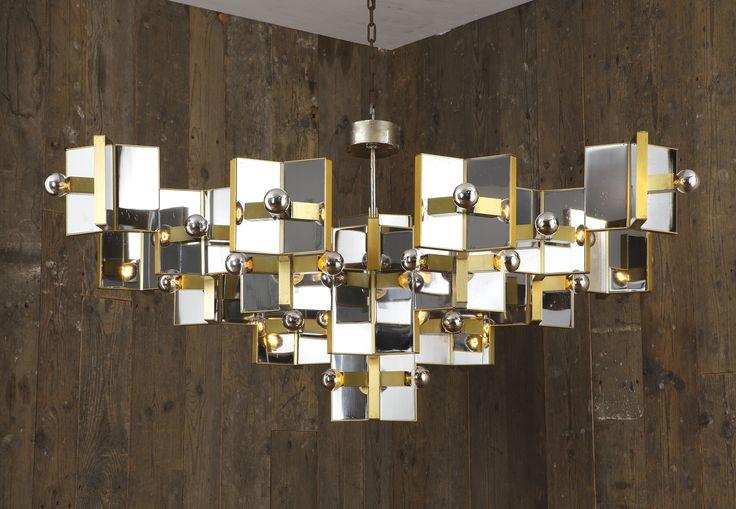 Vintage design chandelier, interior