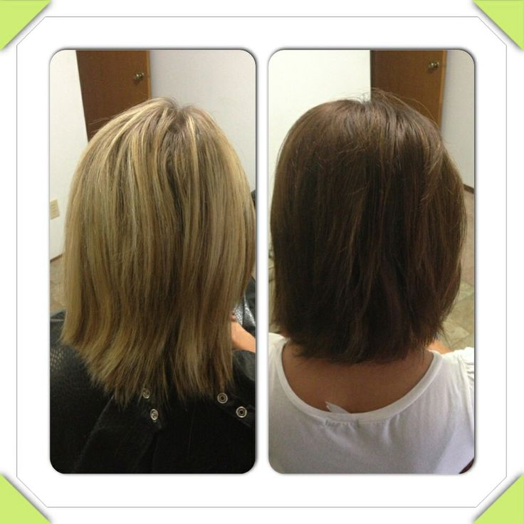 Light to dark. Before extensions