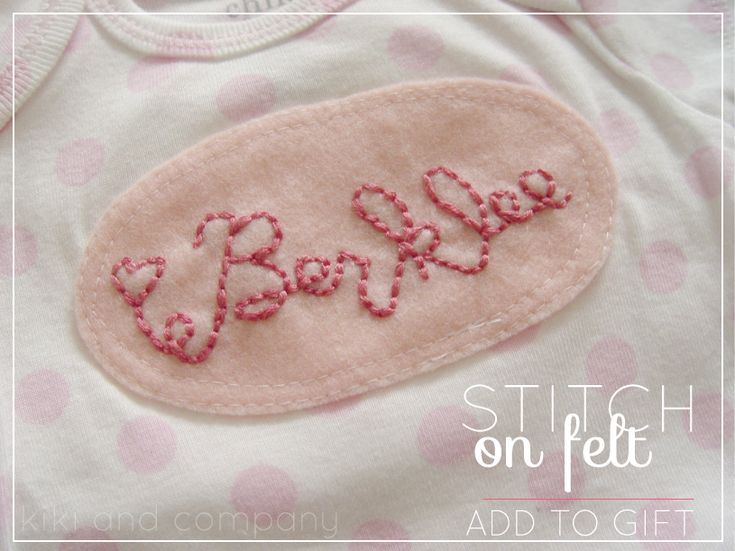 make a personalized baby gift! #baby: Babies, Embroidery Crosses Stitches, Gifts Ideas, Felt, Gift Ideas, Baby Henley, Baby Bubs, Homemade Gifts, Personalized Baby Gifts