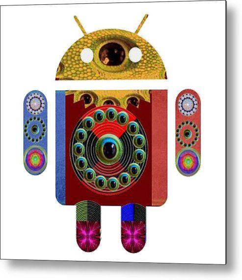 Android Machine Robot Warrior Space War Futuristic Remote Advance Computing  Art Navinjoshi  Rights  Metal Print By Navin Joshi