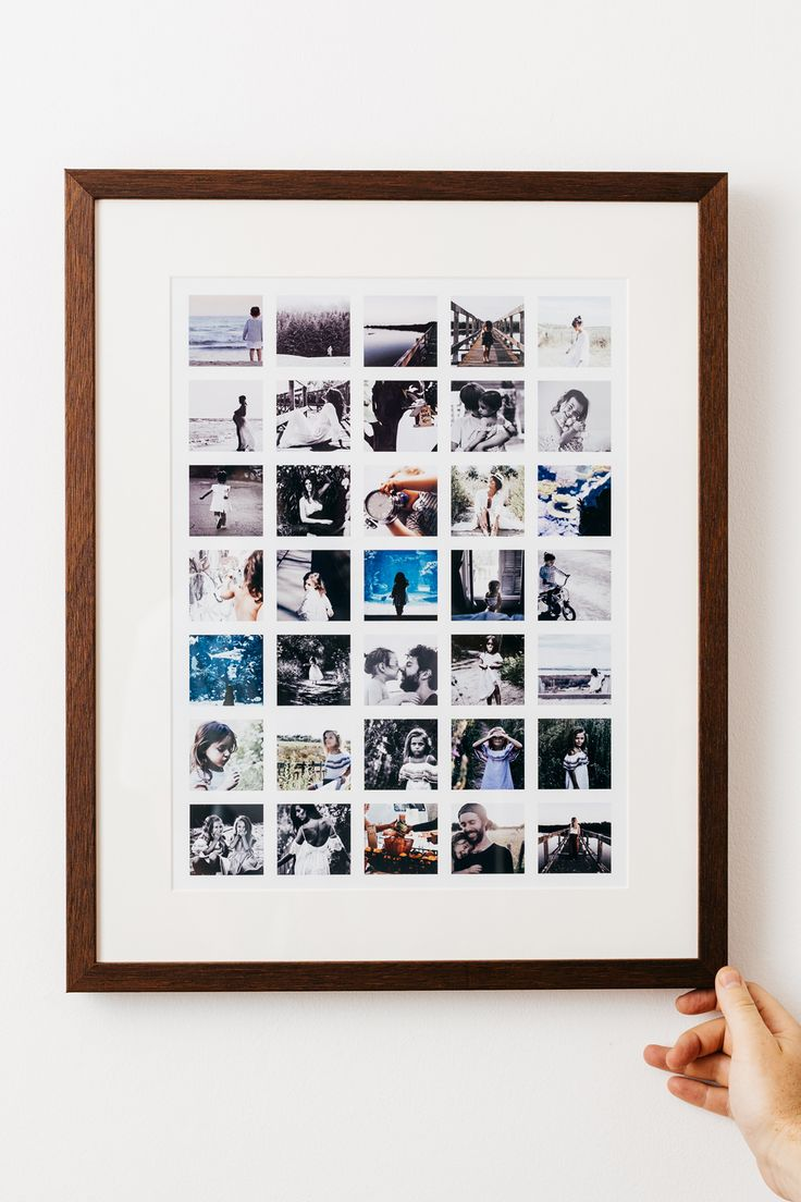 Create a stylish montage framed print from your Instagram, Desktop or mobile photos.  The perfect gift.