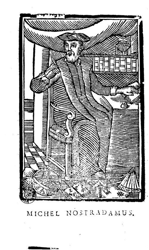 Nostradamus, 1503-1566 #livreancien #astronomie