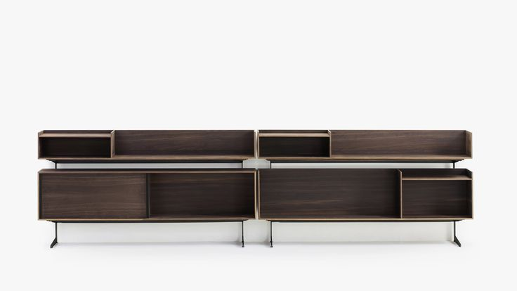 Small collection of freestanding elements, containers in wood with day compartments and sliding doors, that re-interpret the taste and creativity typical