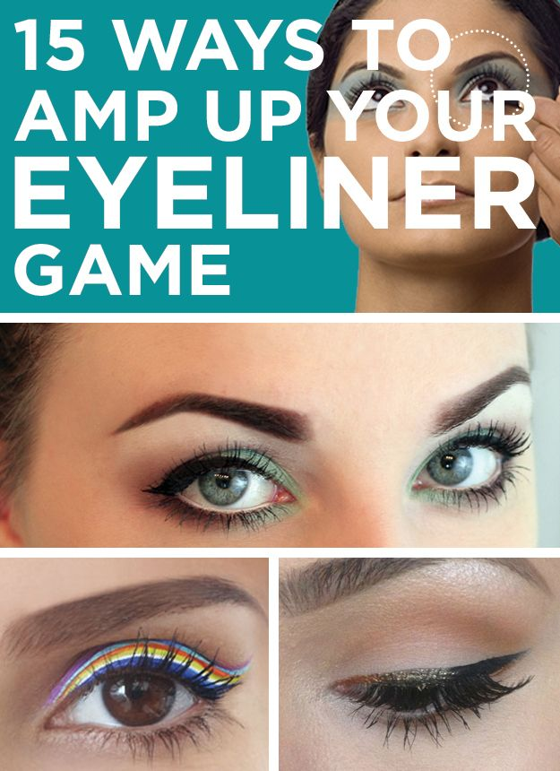 15 Ways To Amp Up Your Eyeliner Game #beauty #eyes #style