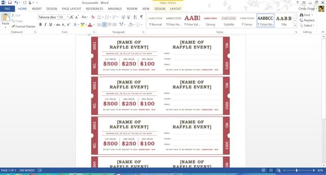 These are Microsoft's Best Free Summer Templates: Printable Raffle Tickets with Stubs Template for Microsoft Word