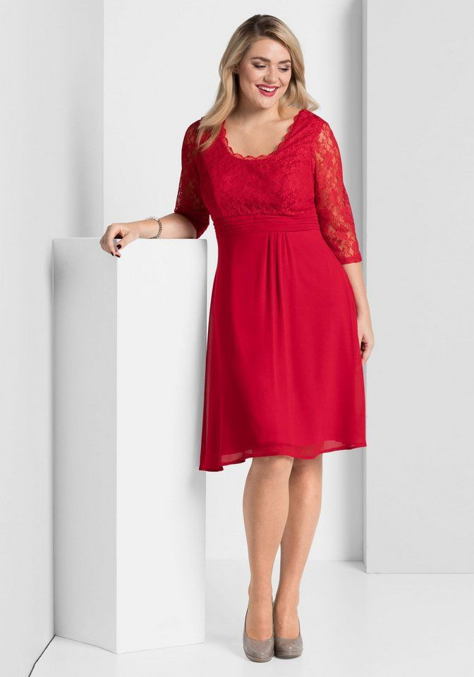26d07655fd2fab sheego Style Abendkleid ab 59,99€. Kleine Falten in der Taille, A