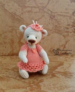 Игрушки Надежды Котченко - Поли, игрушки крючком, toy, doll crochet, Bear crochet, crochet miniature, doll by Nadya Kotchenko